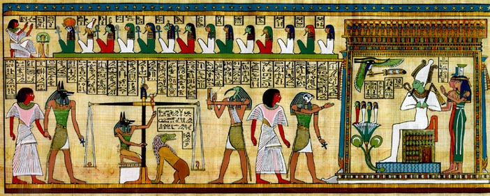 Osiris Weighing the Feather